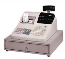 old registry with cash drawer